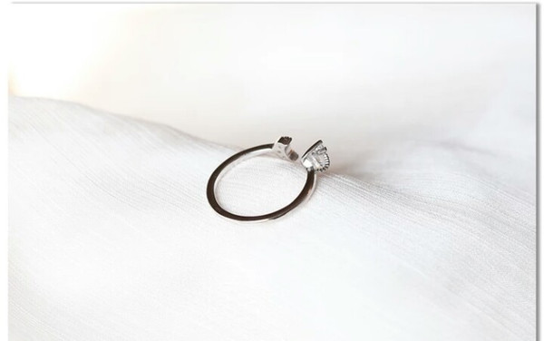 New Arrival Women's 925 Sterling Silver Star With Moon Ring Fashion Personality Index Fanger Fresh Simple Thin