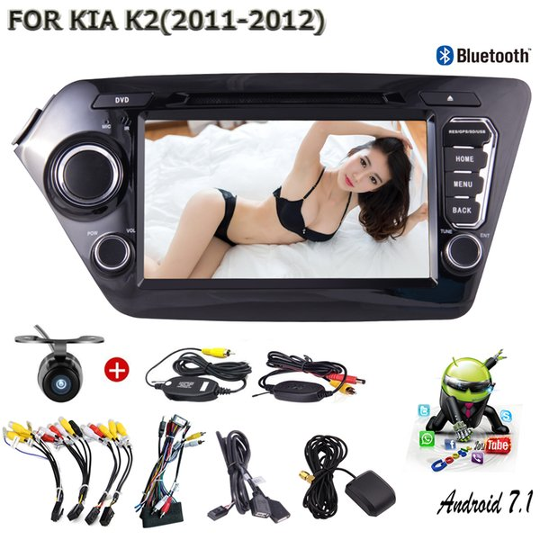 "Car For KIA K2 (2011-2012) Android 7.1 Double 2 Din Car Stereo 8"" In Dash Car DVD Player Bluetooth WIFI AM Video-out"