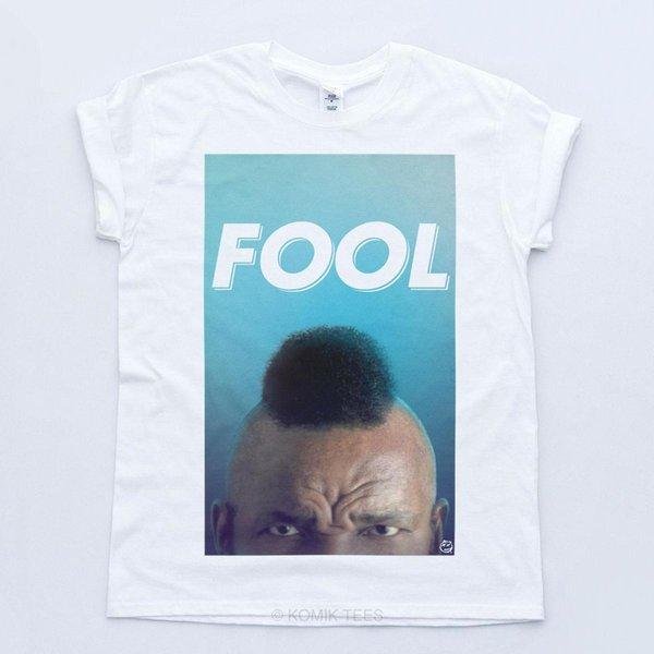 Mr T Pity The Fool BA Baracus Un equipo Retro TV 80's Camiseta de manga corta Camiseta de hombre Tops Camisetas de algodón de manga corta