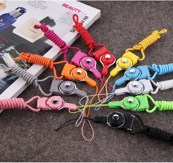 Mobile phone lanyard accessories Ring buckle off long hanging wire Two-in-one multi-function lanyard hanging neck detachable rotation