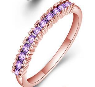 Розовое золото Фиолетовый кристалл
