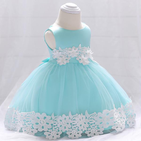 NUEVO bebé encaje flor bautizo vestido bautizo ropa recién nacido niños niñas cumpleaños princesa infantil vestidos de fiesta disfraz