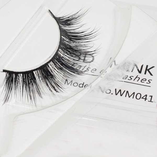 1 Pair High Quality False Eyelash Extension 3D Mink Strip Lashes Faux Natural Mink Eyelashes Extension 100% Real Mink Hair Eyelash Makeup Ki