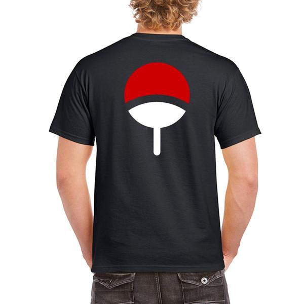 2017 Brand T-shirt Homme Tees Uchiha Clan Symbol Crest Anime Itachi Sasuke Naruto Cosplay Tee T-Shirt Black