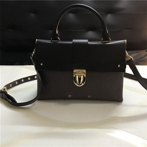 1160af4dbb1e Free shipping high quality leather Designer women s handbag Fashion Brand  shoulder bags crossbody bags Handle bag with strap