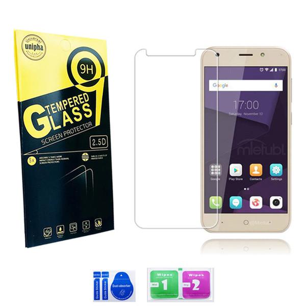 Per LG G7 G6 V30 P10 lite A5 2017 Proteggi schermo in vetro temperato per iphone x 8 7 plus 9H Pacchetto carta antisfondamento