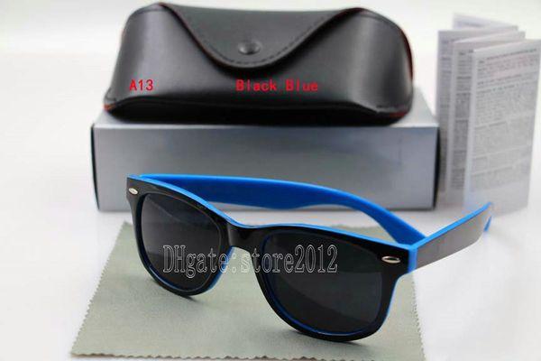 black blue frame black lens