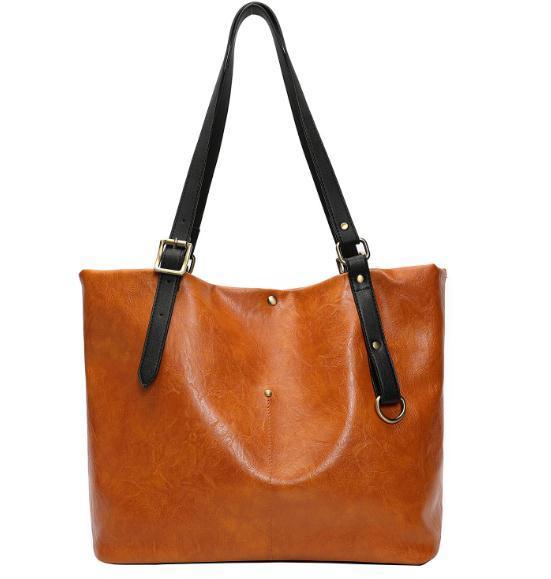 New Lunched Brown Fashion Female Shoulder Bag soft PU Leather women handbag Vintage Messenger Bag Crossbody Bags girl Bag