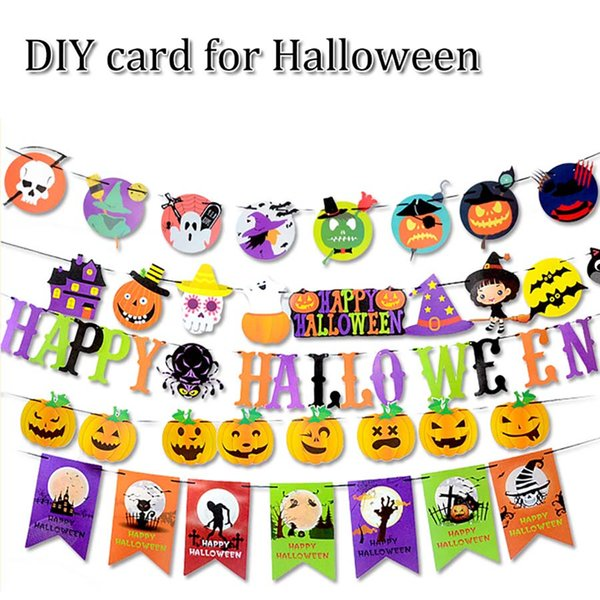 10ft 3M halloween decorations DIY cartoon paper card hang festooned festival ornament for house bar and all kinds of party