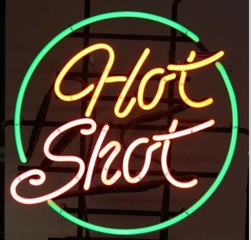 2019 HOT SHOT Neon Sign Real Glass Tube Bar Pub Club Store Business  Advertising Home Decoration Art Display Metal Frame Size 18''X18'' From