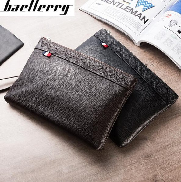 Factory independent brand men bag simple leather business men handbag gentlemans high-capacity cowhide wallet soft leather mens wallet