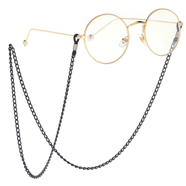 2018 Vintage Gafas Holder Enlace Negro Gafas de Sol Cadena Retro Gafas Cuello Retenedor Cordón Gafas de metal titular de lectura