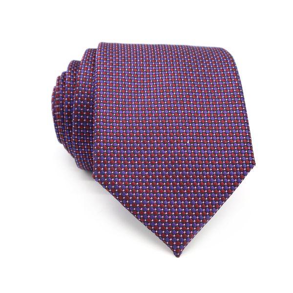 XT169 Mens Ties Neckties 8cm Classic Purple Red Polka Dot Tie for Men Formal Wear Business Wedding Suit Jacquard Silk Neck Tie