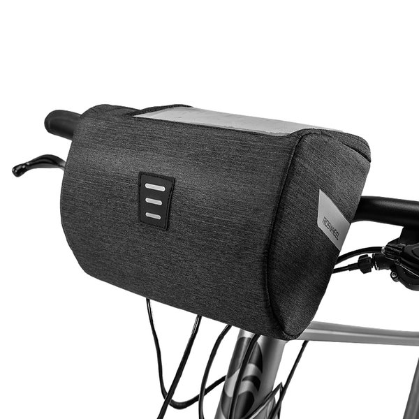 ROSWHEEL Mountain Road 111467 Water Resistant Touchscreen Cycling Bike Bicycle Handlebar Bag For Map or Mobile Cell Phone