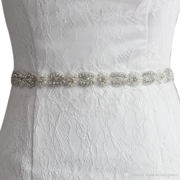 2018 S230 Crystal Rhinestones Bride Evening Party Gown Dresses Accessories Wedding Sashes Belt/Waistband Bridal Belts Sashes