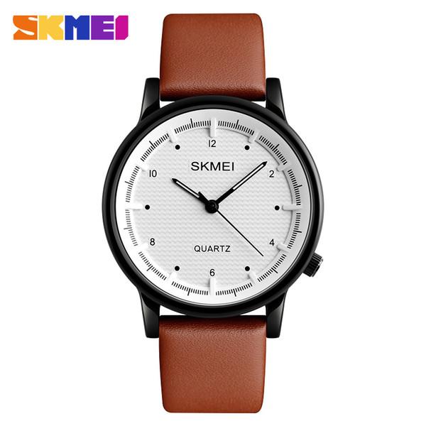 21de650e13f Skmei relógios de quartzo dos homens top marca de luxo pulseira de couro  relógio de negócios