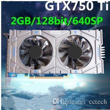 Geforce chip GTX750Ti 1GB/2GB DDR5 128Bit Game Video Graphic Card 1020/5400MHZ 640SP PCI Express 3.0 16X For accelerate all popular 3D games