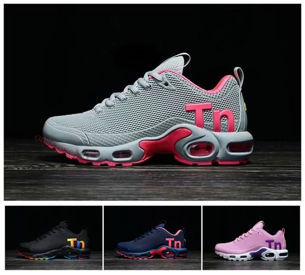 uk availability e06cd 12e0d Wholesale Women Mercurial Plus Tn Ultra SE Gray Pink White Orange Running  Shoes Zapatillas Womens Tns Trainers Sports Sneakers Size 36 40 Running ...