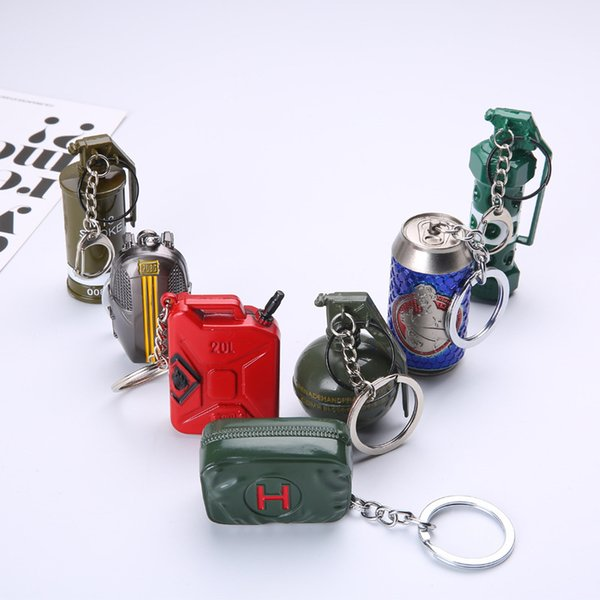 Mobile games dizzy grenades shards smoke grenades equipment game peripheral oil barrel key chain jewelry pendant