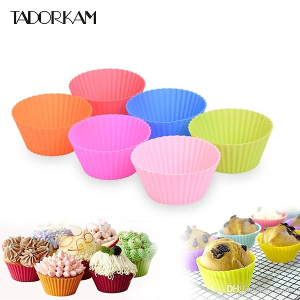 12pcs/set Silicone Cupcake Mold Cake&Muffin Round Shape Tool Baking Pastry Tools Kitchen Gadget Bakeware