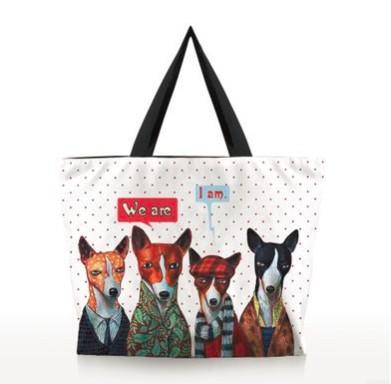 Japanese Style Canvas shopping shoulder Bag of Digital Cartoon printing fashion tote bag Everyday Shopping Travel School Backpack Handbag