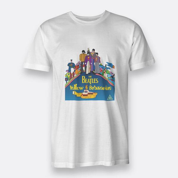 Yellow Submarine The Beatles 1968 Camiseta blanca para hombre Camiseta T-Size S-3XL Estilo de diseño New Fashion Short Sleeve