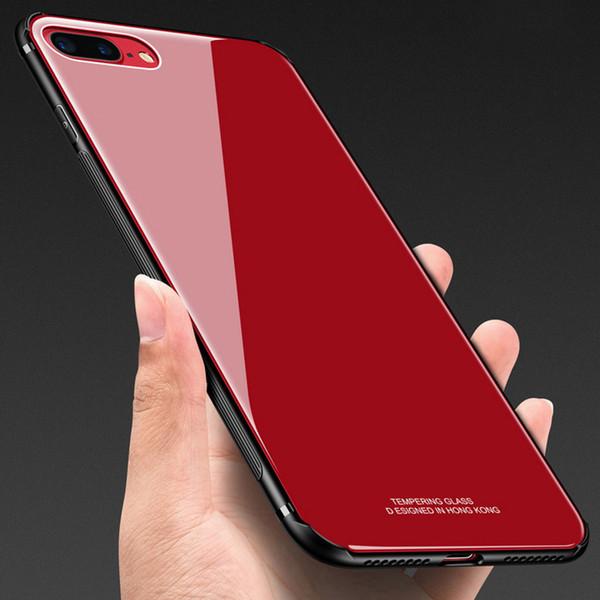 Custodia Lusso Alluminio Cover per Apple iPhone Xs Max Rosso e Nero