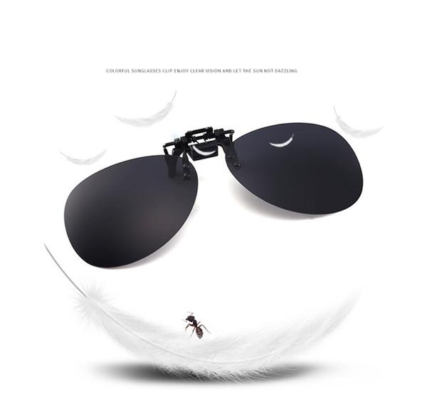 50PCS New Fashion polarized lens clip on sunglasses men's clip-on sunglasses ladies ultra-thin round glasses clip