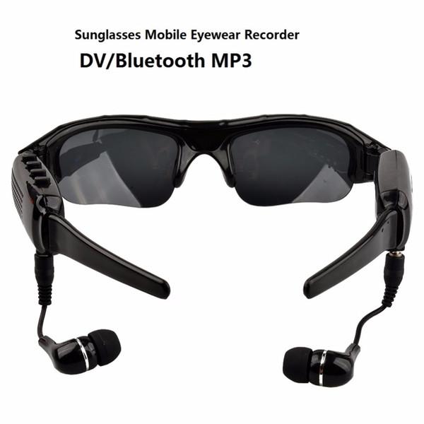 1080P HD Digital Occhiali da sole Mini videocamera Sport Videoregistratore Bluetooth Lettore MP3 DV DVR per guida sportiva Outdoor Bicicletta da skate Videocamera