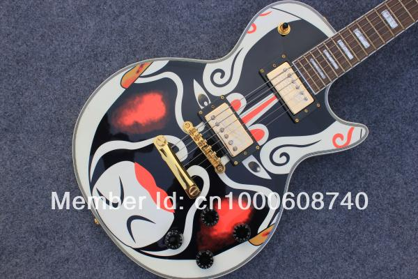 Wholesale customized DIY electric guitar lp model considerate colour makeup of EMS free shipping