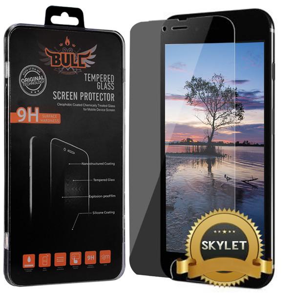 Skylet Anti Spy Protector de pantalla de cristal templado para iPhone XS MAX iPhone XR 8 Plus 6S 7 Plus con caja al por menor