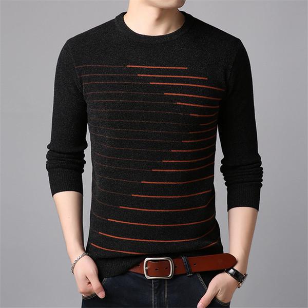 COFFEY cashmere sweater men 2018 Korean base pullover men new sweater pure cotton youth leisure winter