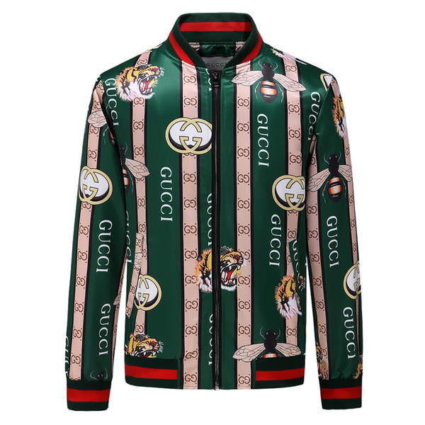 3e8c6652f Brand new Luxury designer Fashion casual slim jackets windbreaker coats men  bomber jacket snake bee floral
