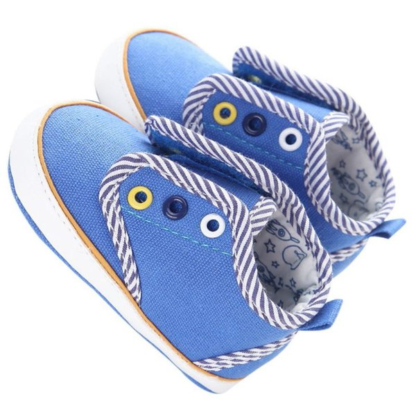 Spring Baby Girl Shoes Classic Canvas Stripes Baby Cotton Soft Shoes First Walker Fashion Boy