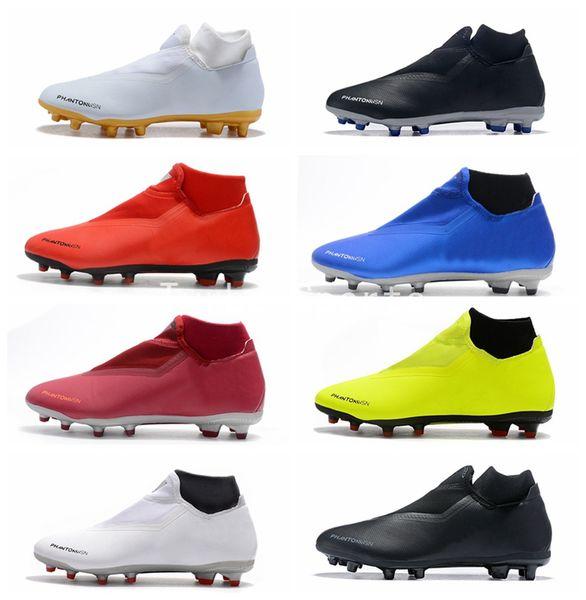 2018 Phantom Vision Elite DF FG Mens Soccer Shoes Cheap Crampons de football cleats Training Boots zapatos botas de futbol scarpe da calcio