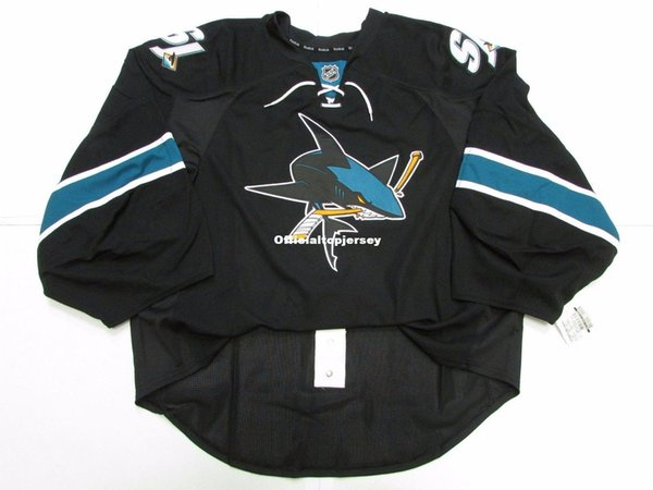 Cheap wholesale Custom SAN JOSE SHARKS THIRD TEAM ISSUED EDGE JERSEY GOALIE CUT 60 Mens Stitched Personalized hockey Jerseys