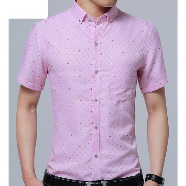 Camisa dos homens de Negócios de Algodão Floral Design de mangas curtas Casual Marca de Roupas de Alta Qualidade Tops Tees Masculino camisas de impressão