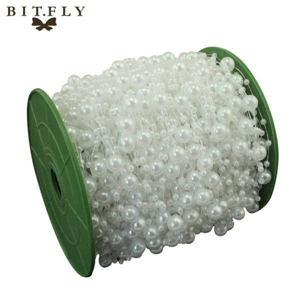 ecorative outdoor products 5 Meters Fishing Line Artificial Pearls Beads Chain Garland Flowers Wedding Party Decoration Products Supply B...