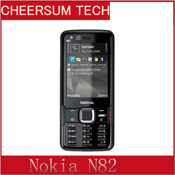100%Original Nokia N82 Unlocked GSM Mobile Phone Dual Camera 5MP WIFI 3G GPS Nokia cellphone refurbished Phone 10pcs free DHL