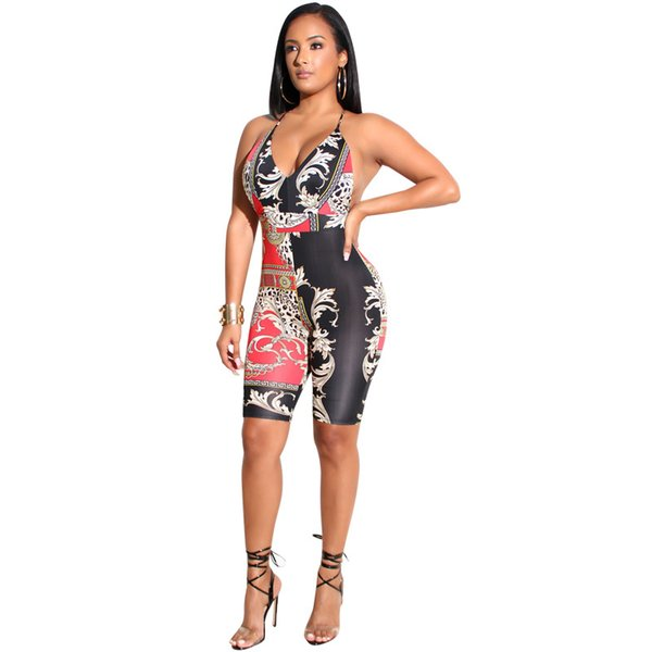Sleeveless Backless Skinny Printing Jumpsuit custom Jogging Suit Tracksuit Sports Sweat Suit french terry fleece velvet/velour suits