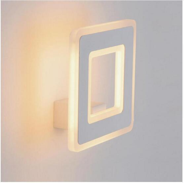 svitz 12W Square LED wall lamp simple luminaria bathroom wall lights led indoor light bedside wall sconces bedroom mirror aisle light