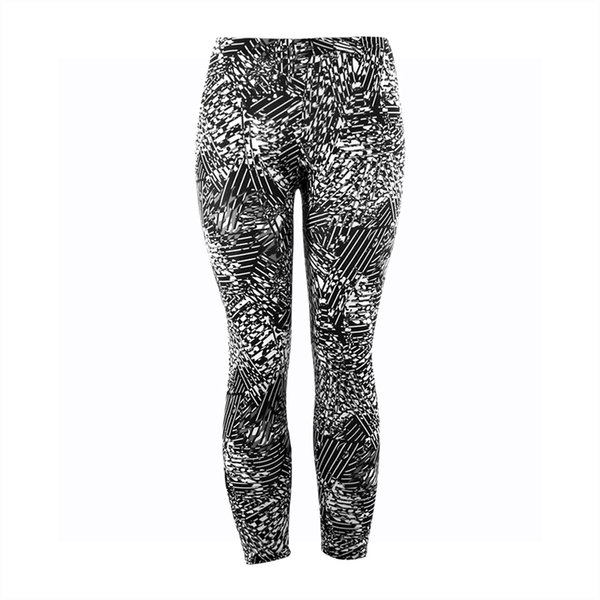 Yesello Causal Women Leggings 2018 Fashion Graffiti Print Leggins High Wast Plus Size Elasticity Slim Pant legging for Woman