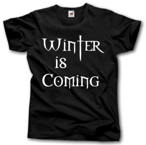 WINTER IS COMING T-SHIRT S - XXXXXL GAME OF THRONES HOUSE STARK TEE TOP Funny free shipping Unisex Casual gift