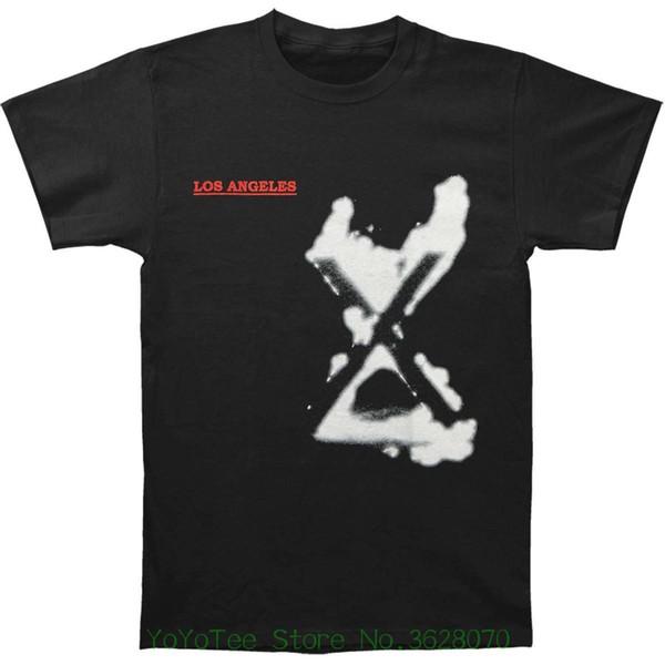 New Arrival Male Tees Casual Boy T-shirt Tops Discounts X Men&#039 ; S Los Angeles T-shirt Black