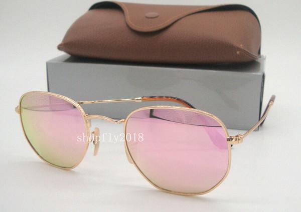Gold Pink Mirror