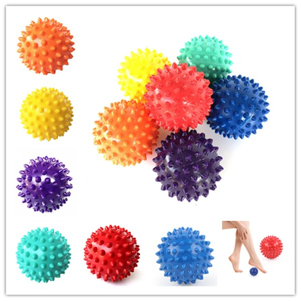 6 colori Spiky Point Massage Ball Trigger Roller Reflexology Sollievo dallo stress per Palm Foot Neck Neck Back Massager completo del corpo