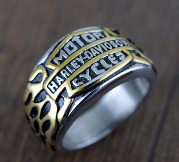 Estilo europeu jóias menswear anéis de alta qualidade de ouro flama de prata anel Harley entrega gratuita
