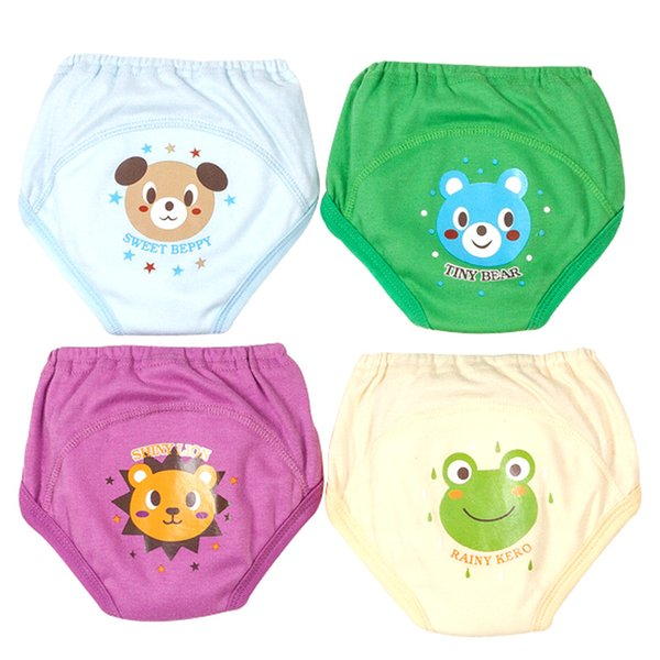 4 PCS/Lot Potty Training Pants Baby Learning Nappies for Toddler Boy Girl Panties Reusable Washable Cotton Diapers