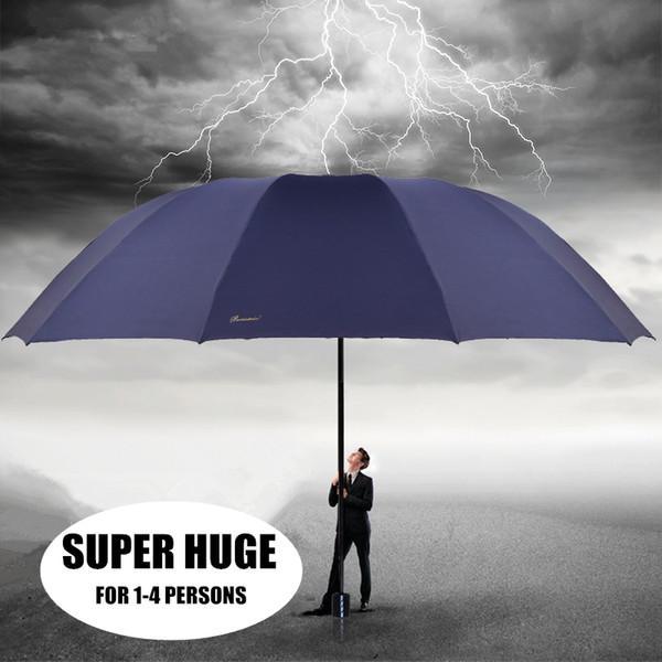 Super Huge Big Large Folding Rainy Sunny Men Women Business Umbrella Fashion Parasol Creative Hight Quality Outdoor Windproof