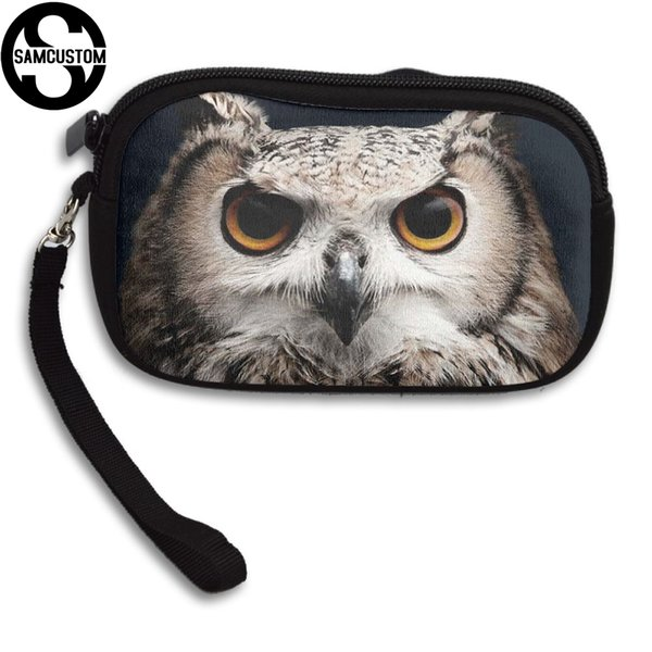 SAMCUSTOM Custom owl cute 3D Print New Women's small purse male and female Small wallet Fashion Casual Girl Coin Purse